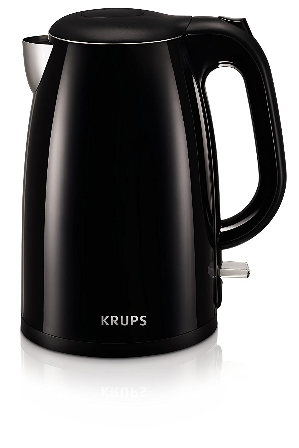 KRUPS BW26 Cool-touch Stainless Steel Double Wall Electric Kettle 1.5L Black