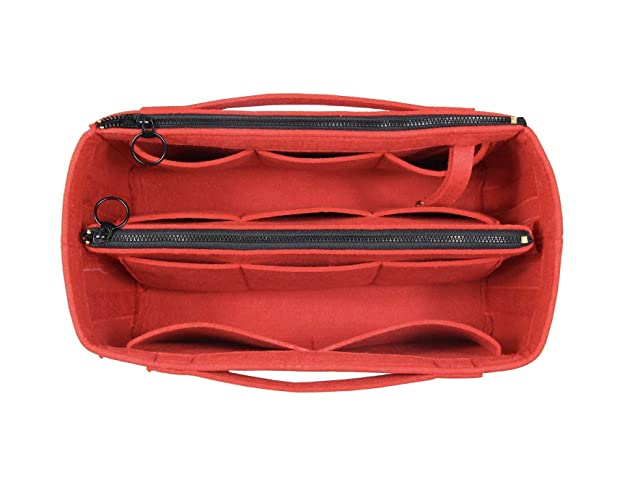 0471586ac Amazon.com: [Fits Neverfull MM/Speedy 30, Red] Felt Organizer (Invisible  Handles, Key Chain Hook, Detachable Zip Pocket), Tote Bag Organizer, Purse  Insert: ...