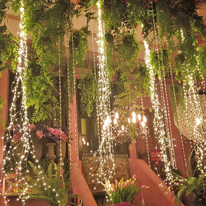 Cadena de Luces 300 Leds Vines Luces de cobre cable de cobre luces ...