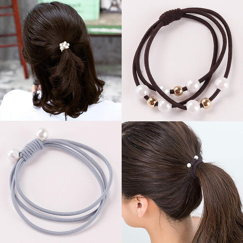 Elastisches Seil Haargummis Pferdeschwanz Halter Kopfband Haarbänder YR