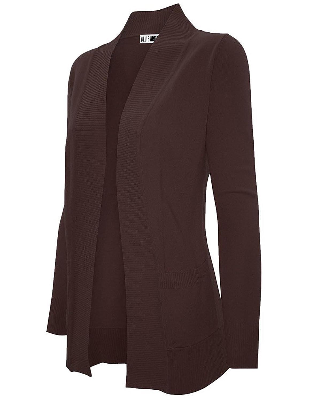 Ollie Arnes Women's Classy Open Front Longsleeve Soft Knit Cardigans OA-4865