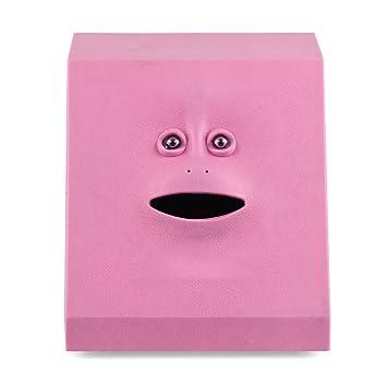 AOZBZ Piggy Bank Automatic Eat Coin, Face Design Money Box Plastic