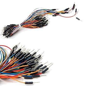 65pcs Sin Soldadura Flexibles Cables de Puente Protoboard Cable Macho a Macho Para Arduino: Amazon.es: Electrónica