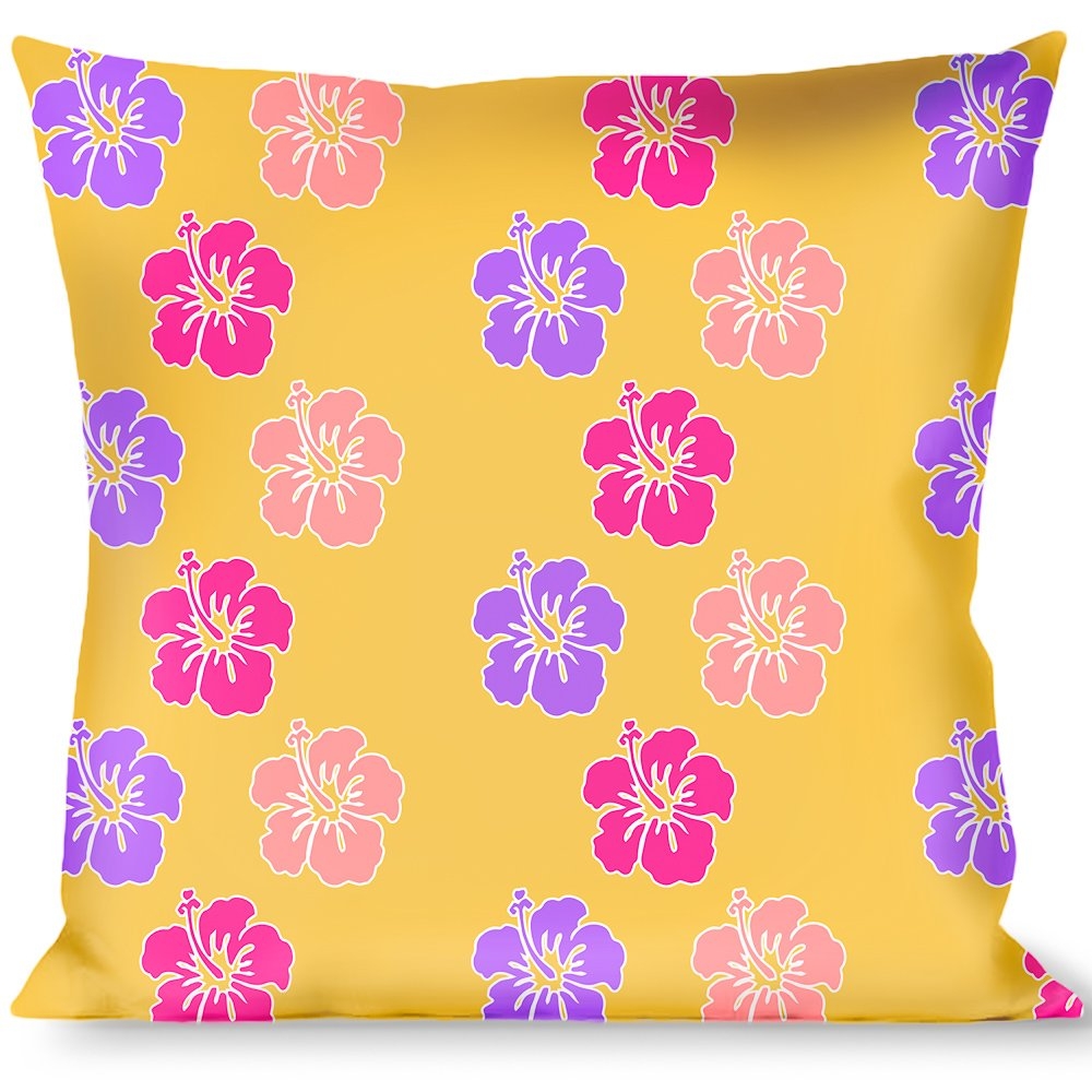 Buckle Down Hibiscus W Stripes Gold Multi Pastel Throw Pillow Multicolor Throw Pillows Decorative Pillows Inserts Covers