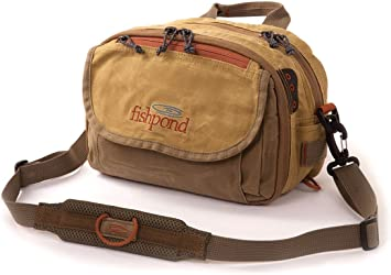FISHPOND BLUE RIVER FLY FISHING CHEST// LUMBAR PACK IN EARTH COLOR FREE US SHIP