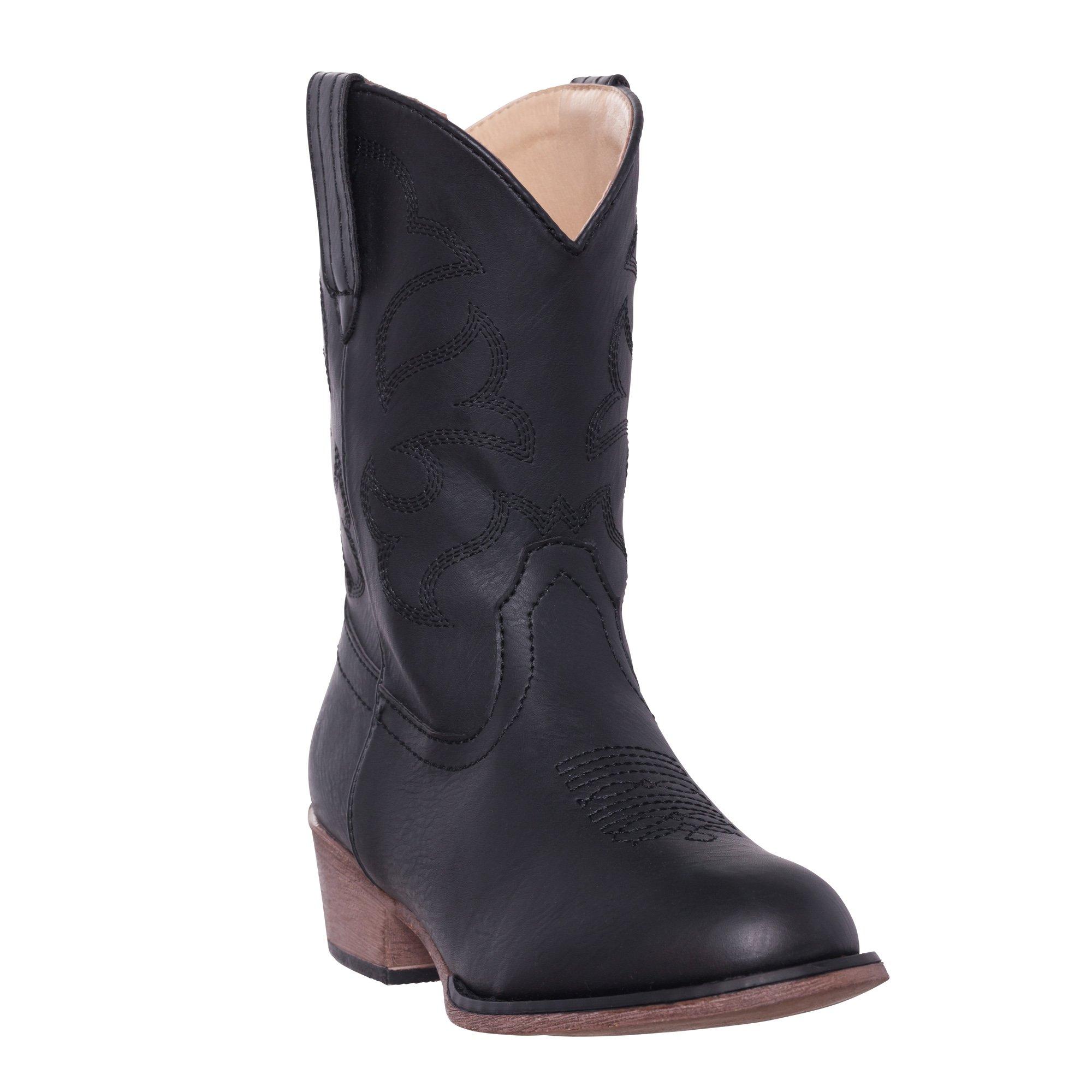 Children Western Kids Cowboy Boot,Black,6 M US Big Kid