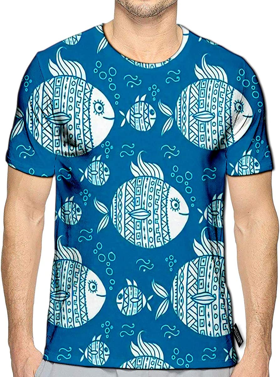 YILINGER 3D Printed T Shirts Hope Casual Mens Hipster Top Tees