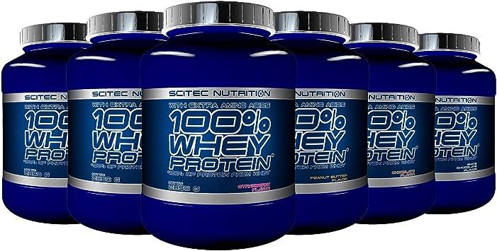 Scitec Nutrition 100% Whey Protein con aminoácidos adicionales, 2.35 kg, Vainilla