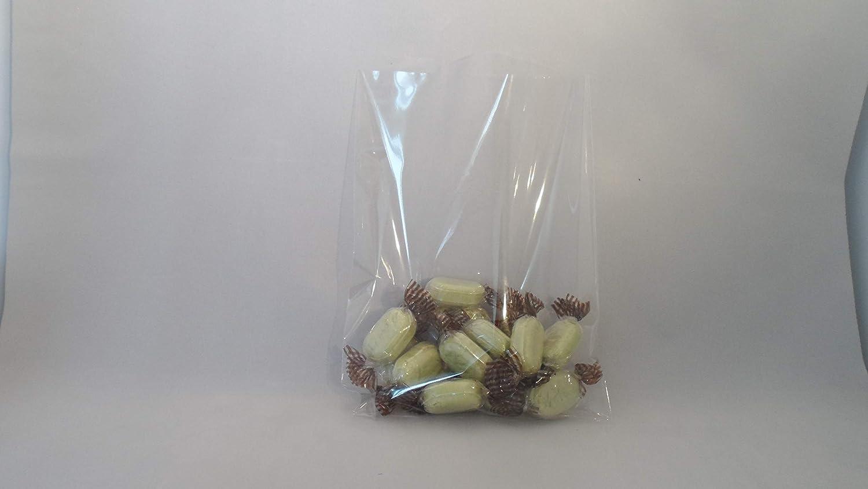 100 buste piatte trasparenti in cellophane, sacchetti porta-dolciumi, sacchetti regalo natalizi, 15,2 cm x 20,3 cm (larghezza x lunghezza), 1,2 ml (capacità ) Elandy