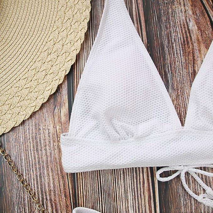 Luckycat Bikini Trajes de baño Mujer, Traje de baño de Mujer Sexy Bikini Traje de baño Bikini de Mujer Elástico Escotado por detrás Ropa de Playa: ...