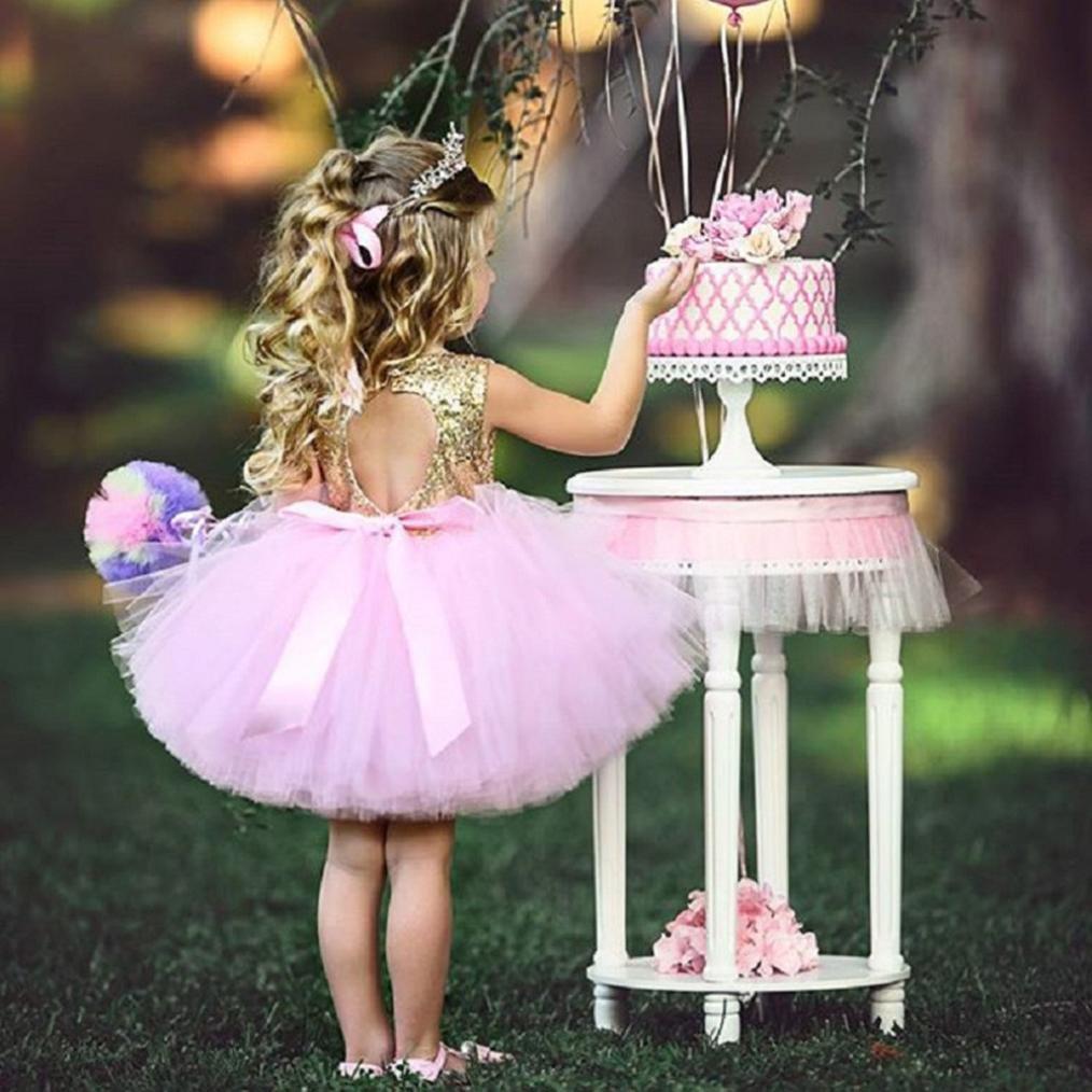 1ae116fa2 Ropa Niña, K-youth® Lentejuelas Vestidos de Princesa Fiesta Bautizo ...
