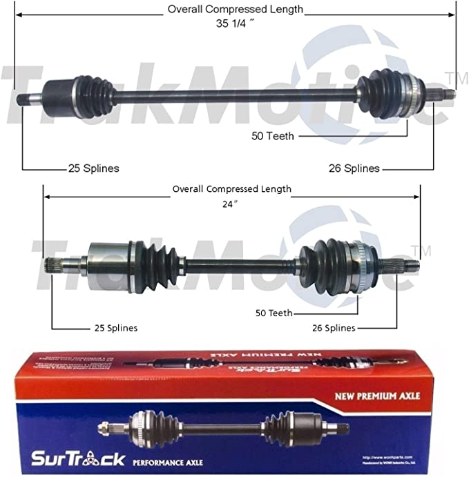 Automotive Transmission & Drive Train SurTrack Pair Set of 2 Front ...