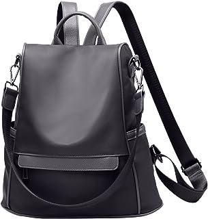 Women Backpack Purse Waterproof Anti-Theft Rucksack Travel Daypack Shoulder Bag (Black)