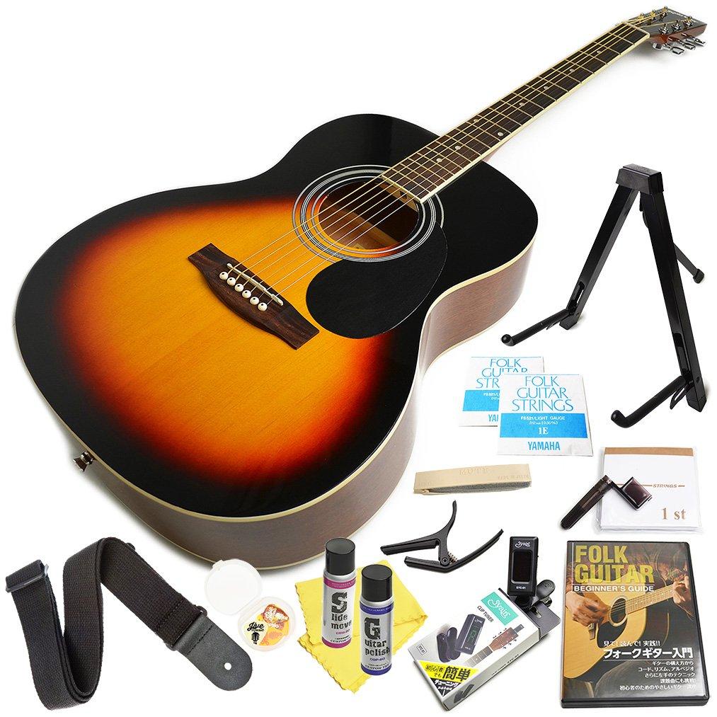 アコースティックギター 初心者セット アコギ FG10 16点 入門 セット VS ヴィンテージサンバースト B072V48BJ5 VS VS