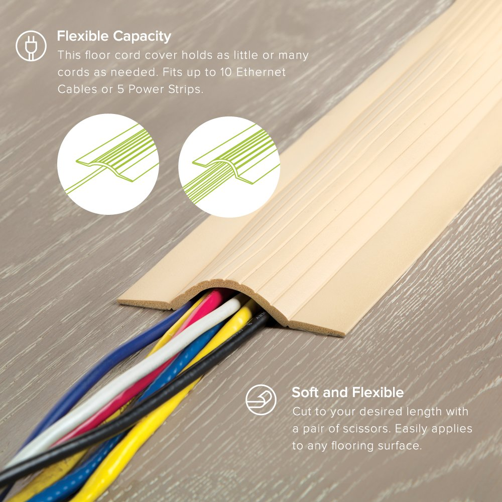 Ut Wire Utw Cpl5 Bg 5 Cable Blanket Low Profile Cord Surface Wiring Cover And Protector Beige Home Improvement