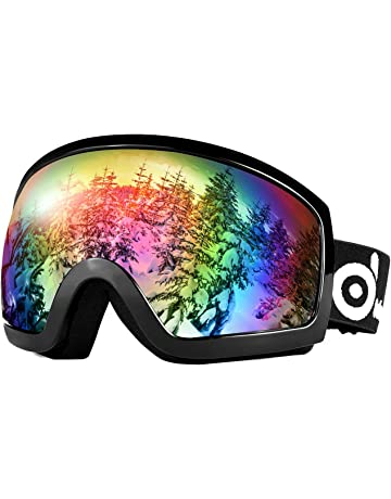 2f9520ac41 Odoland Snow Ski Goggles S2 Double Lens Anti-Fog Windproof UV400 Eyewear for  Adult and