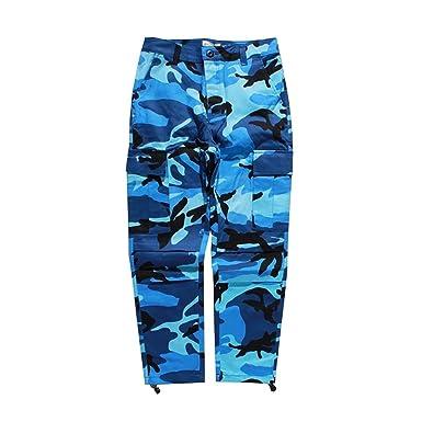 Cheryl Bull Stylish Camo Cargo Pants Mens Baggy Tactical Trouser Hip