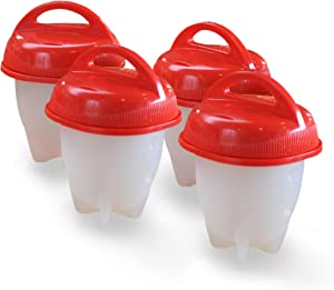 Egglettes Egg Cooker - Hard Boiled Eggs without the Shell, 4 Egg Cups