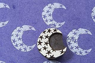 Blockwallah Moon Wooden Block Stamp
