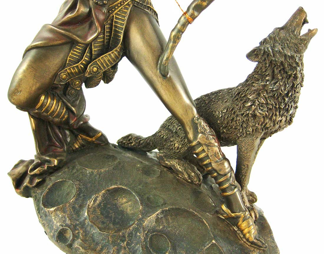amazon com bronzed finish artemis moon goddess greek statue diana