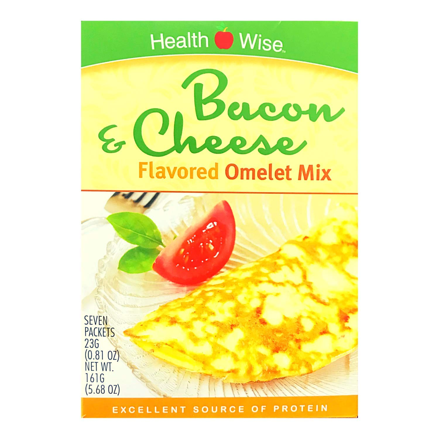 HealthWise Bacon & Cheese Flavored Omelet mix, (7 packets of 0.808 oz., net 5.655 oz.)