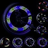 Lebolike Spoke Light Waterproof Colorful LEDs Spoke Lights for Bicycle Wheel Spoke Decorations - (1 Piece for 1 Tire)