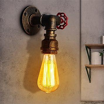 Steampunk Industriel Jeteven AmpouleBronze Applique Murale Style De Vintage Base E27 Rétro Lampe 60wsans Tuyau 6ygIfvb7Y