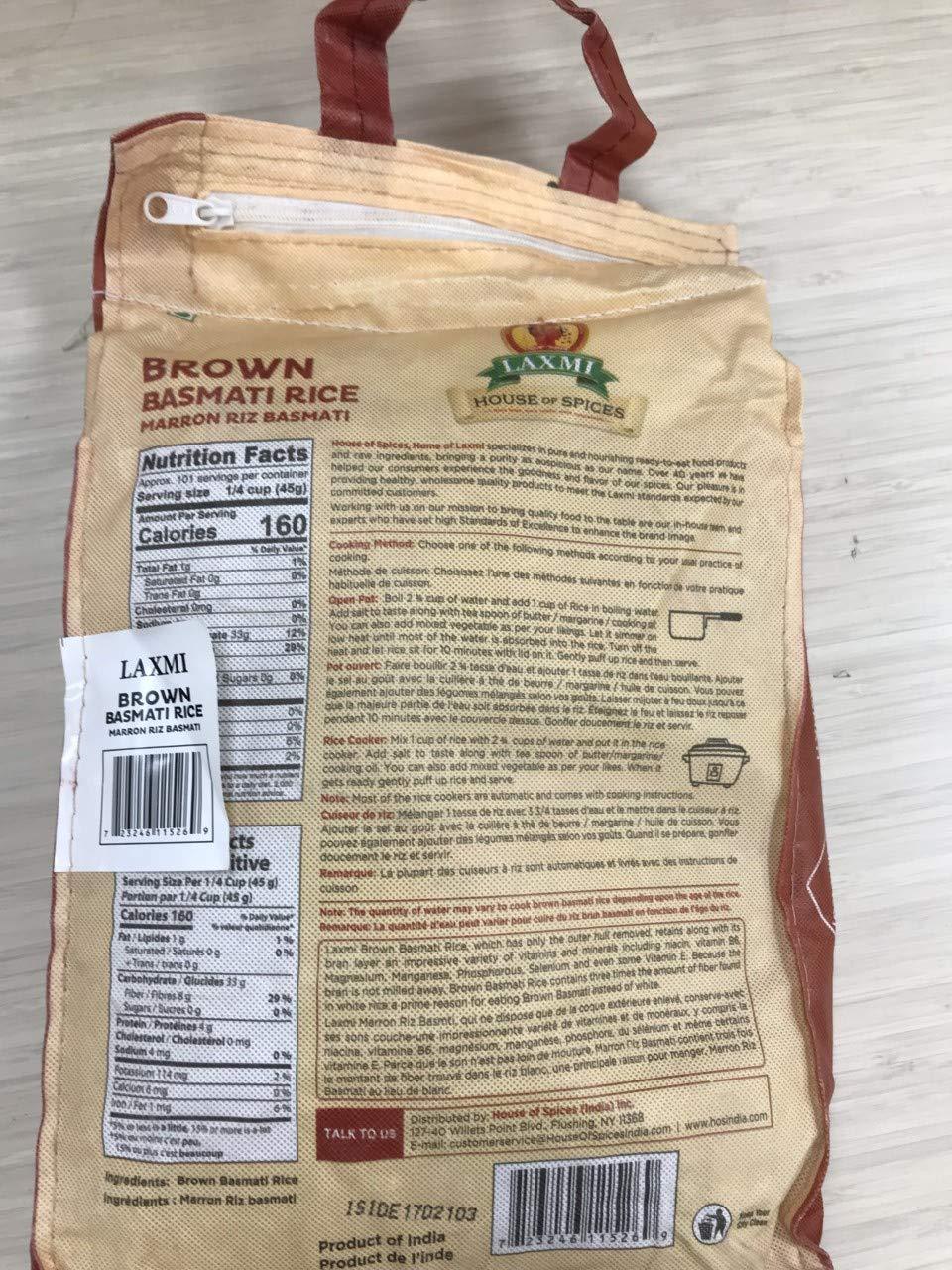 Laxmi – Arroz de basmati marrón natural de 6.6 lbs: Amazon ...