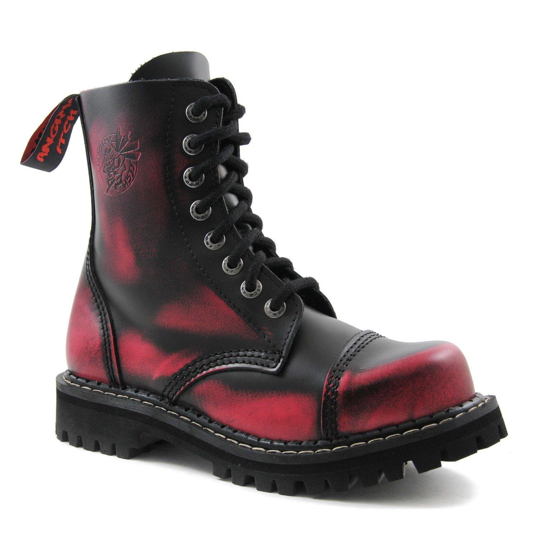 eab7f20083 ANGRY ITCH - 8-Loch Pink Rub-Off Rub-Off Pink Gothic Punk Army Ranger Armee  Leder Stiefel mit Stahlkappe - e4019b