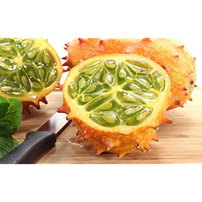 African Kiwano Jelly Melon 10 Seeds - Cucumis - Veggie : Vegetable Plants : Garden & Outdoor