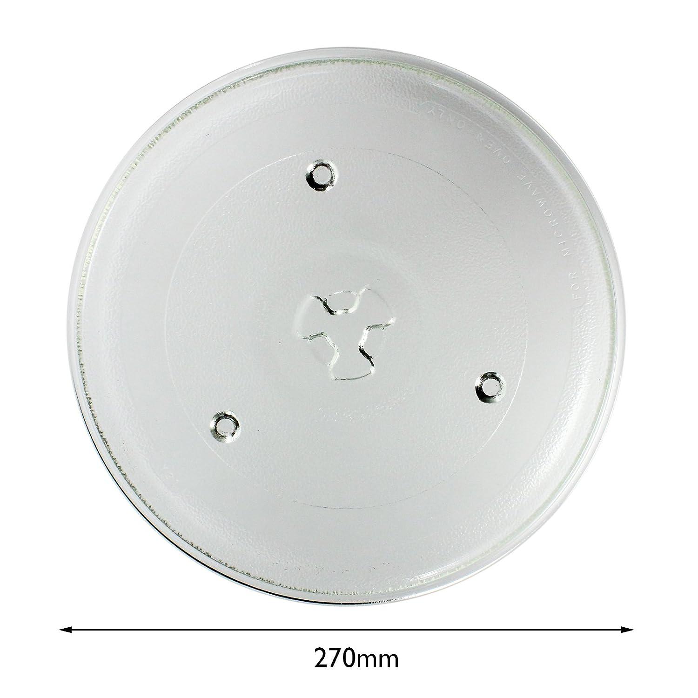 Spares2go cristal Tocadiscos placa plato para Kenwood Horno De ...