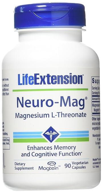 Neuro-mag Magnesium L-threonate-1 Bottle - 90 Vegetarian Capsules