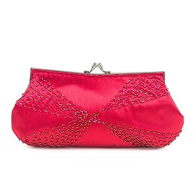 8ffb360e927 Farfalla Womens 90508 Clutch Red: Amazon.co.uk: Shoes & Bags