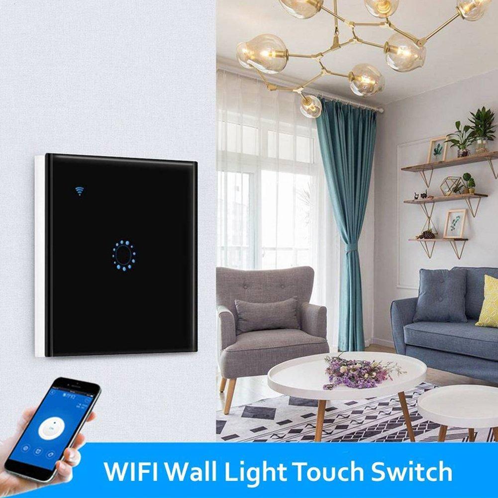 nessun hub richiesto WIFI Smart Wall Light Switch Pannello tattile in vetro Telecomando wireless da app mobile ovunque con  Alexa funzione di sincronizzazione