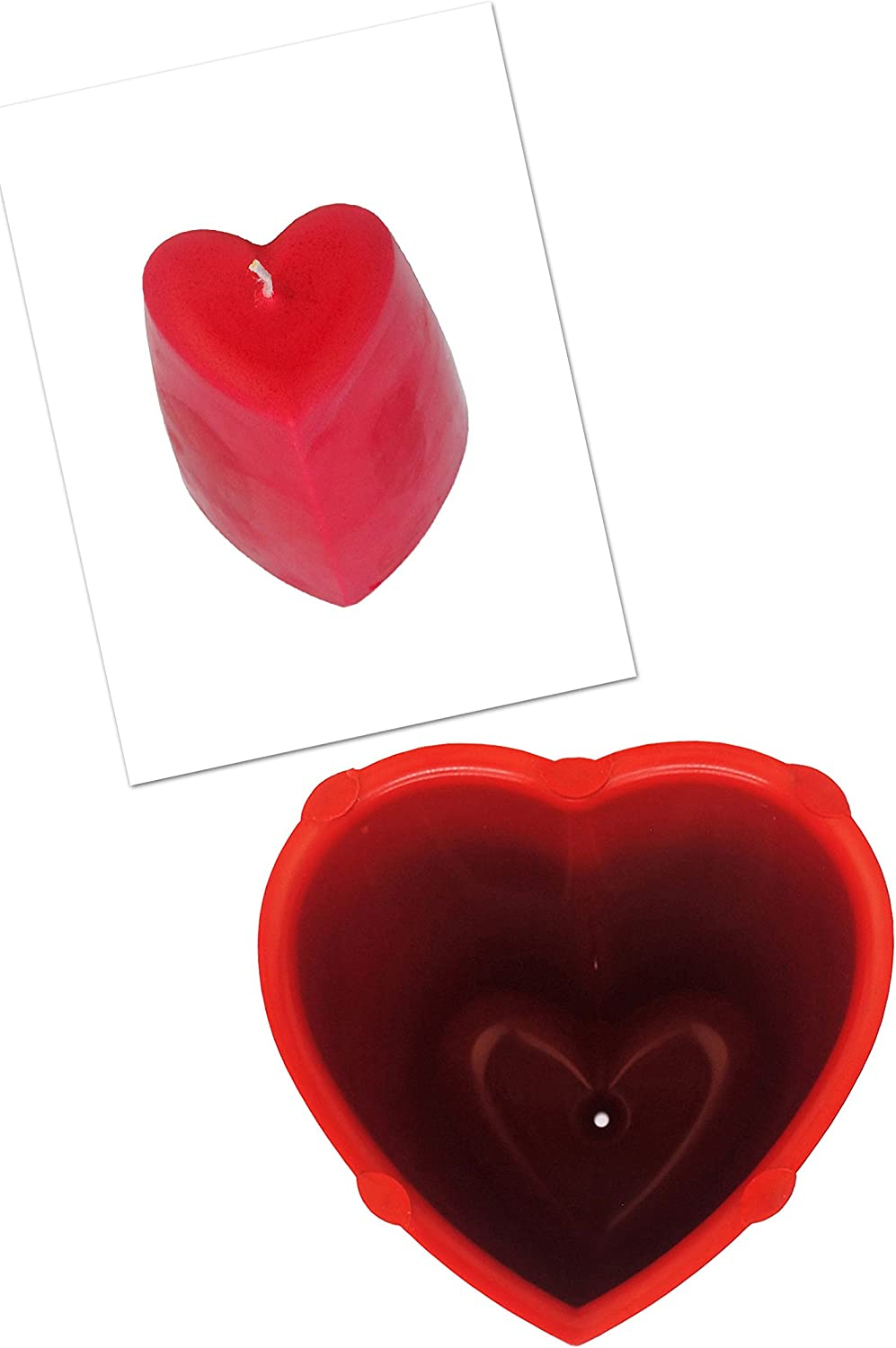 Valentine Heart Shaped Candle Mould /& 4 1//2 Tall Pillar Candle Making Mould Mold S7733 Free UK Postage Proops Set x 2