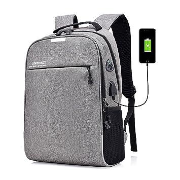 MG-N Bolsos Maletas Mochila De Viaje Antirrobo Con Interfaz De Carga USB Para Estudiantes Hombres Y Mujeres (Color : Black): Amazon.es: Equipaje