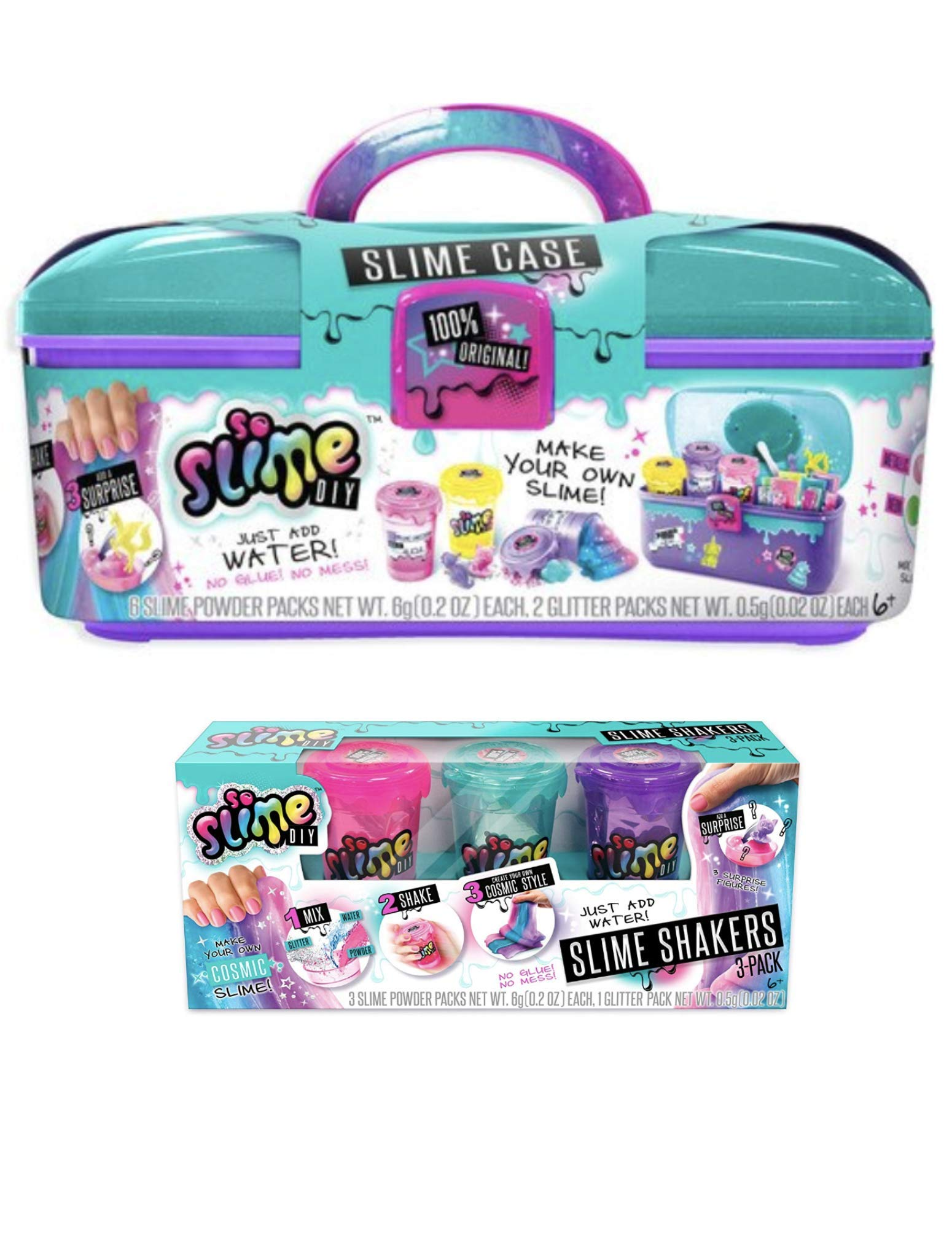 So Slime DIY Slime Case Storage Set + Cosmic Slime Three Pack!