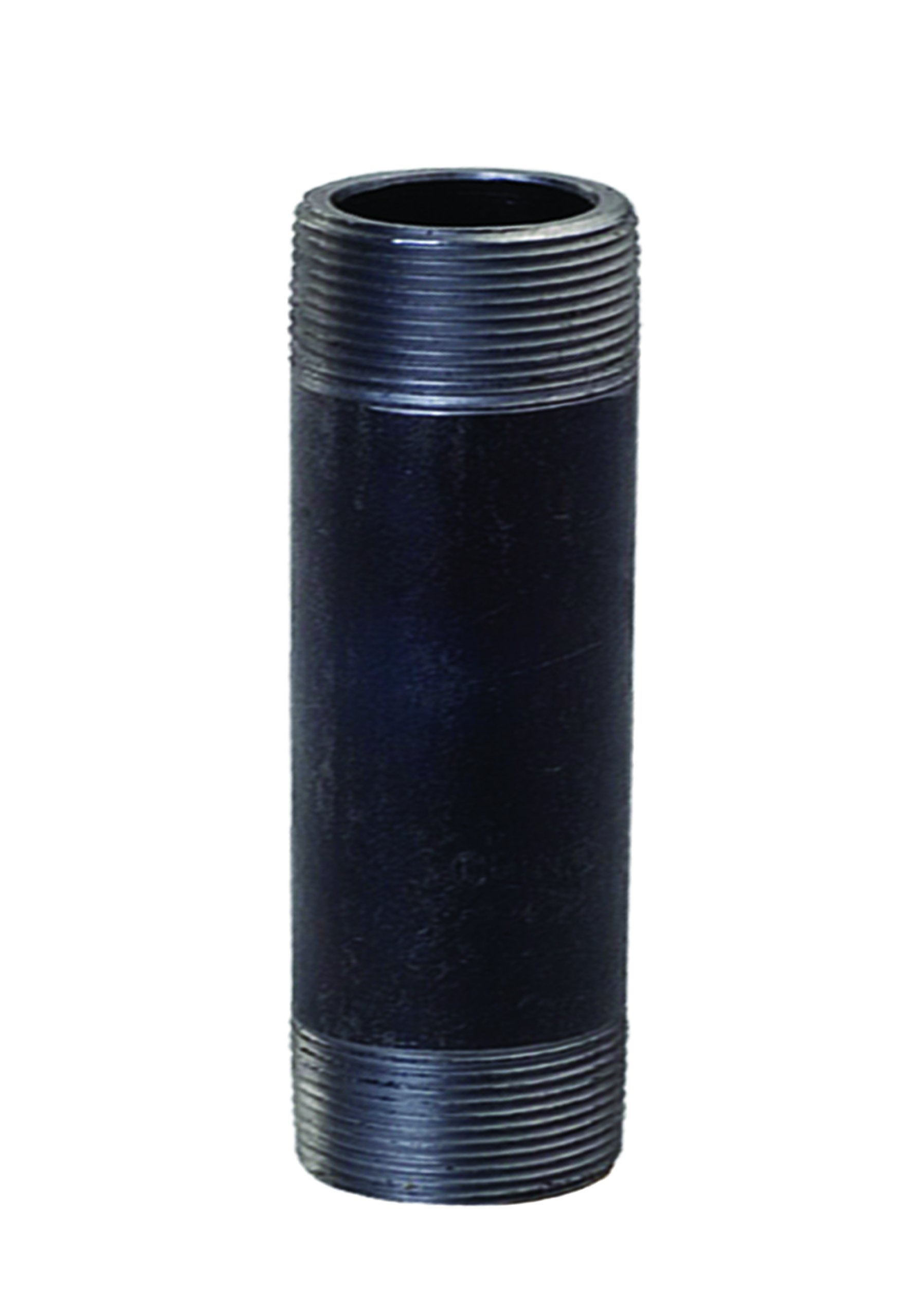Everflow Supplies NPBL2512 12'' Long Black Steel Nipple Pipe Fitting with 2-1/2'' Nominal Size Diameter