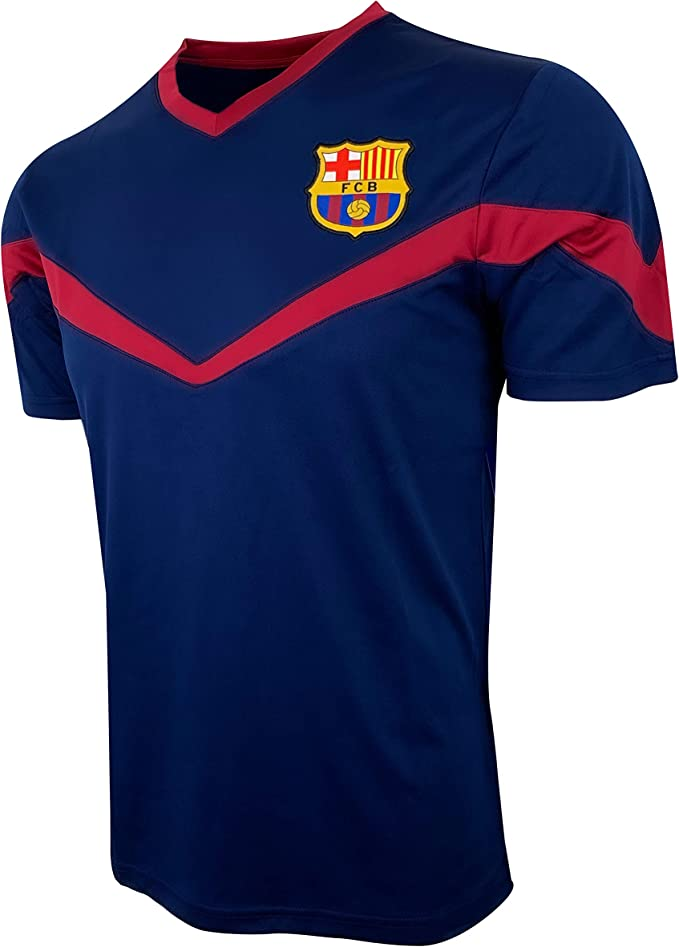 Amazon Com Icon Sports Barcelona Training Jersey For Kids Licensed Fc Barcelona Soccer Shirt Youth Sizes Clothing