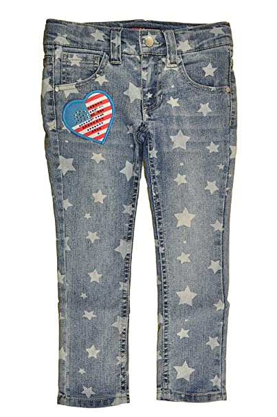 Amazon.com: U Glow niña Little Girls Denim Blue Star Print ...