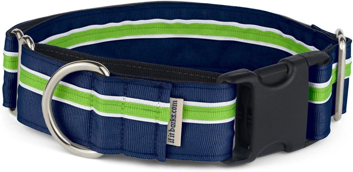 Acorns Adjustable Dog Collar Martingale Collar or Side Release Buckle Collar