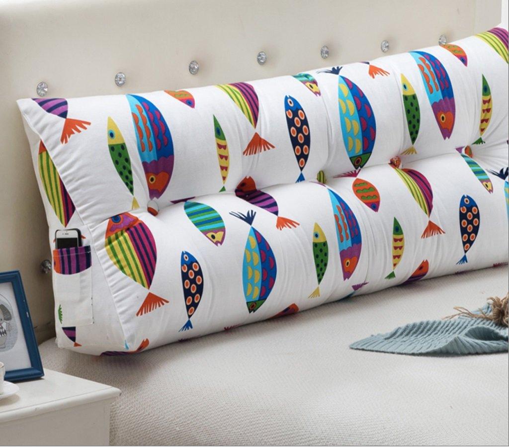 Bedside Cushions Bed Head Cotton Hemp Pattern Cushions (multi-color / Multi-size Optional) ( Color : B , Size : 20050cm )