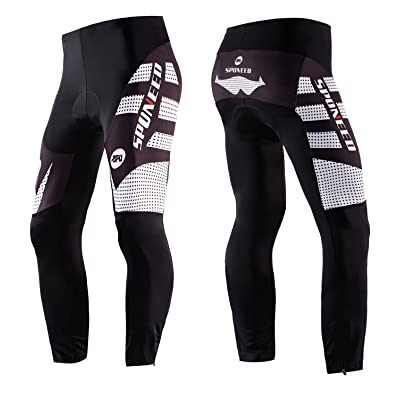 sponeed Men's Cycle Jersey Long sleeve Tights Gel padded Breathable Pants