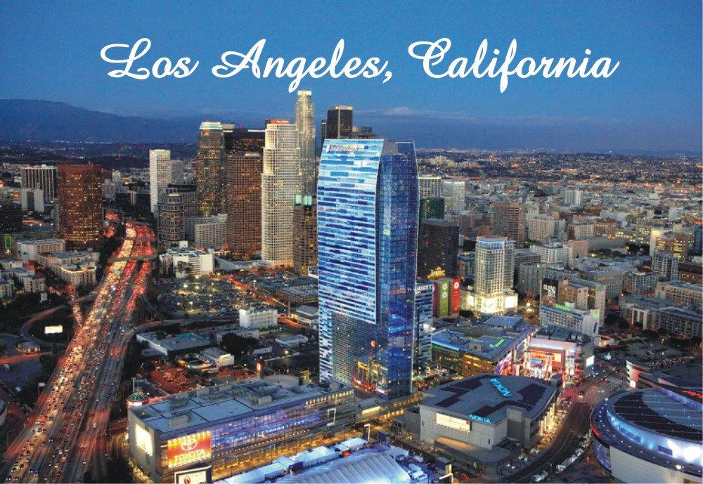 Los Angeles, California, CA, City, Skyline, Souvenir Magnet 2 x 3 Photo Fridge Magnet