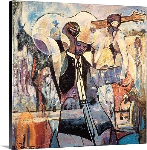 Blues Canvas Wall Art Print