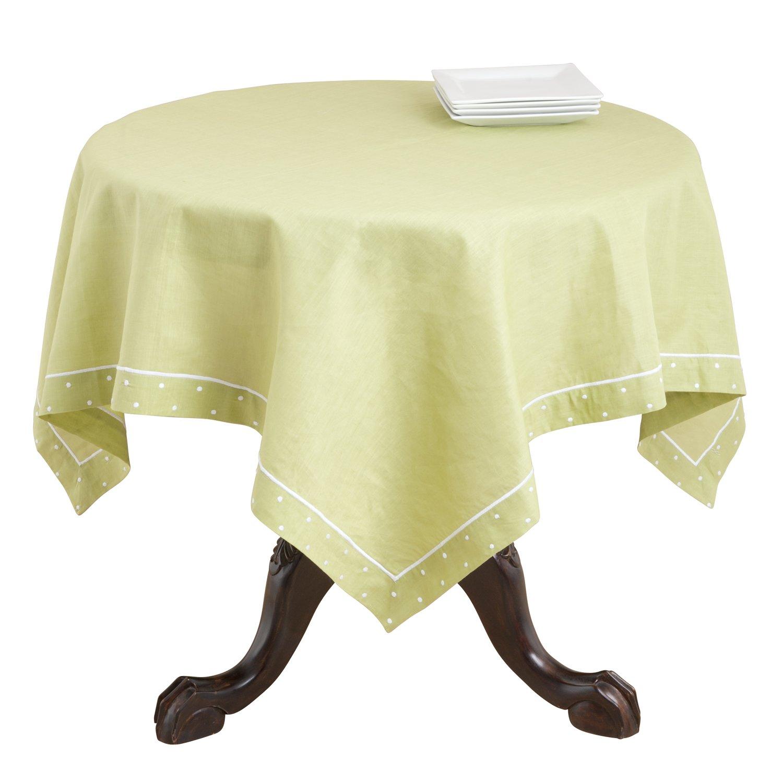 SARO LIFESTYLE Topper Hampton Bay Square Table Topper//7551.OL54S Olive 54-Inch