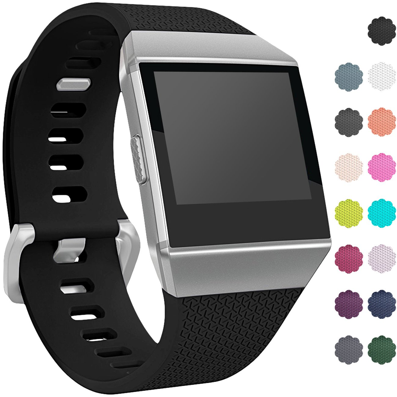 c2febe20f Fitbit Ionic Watch Bands, Replacement Sport Strap for Fitbit Ionic  Smartwatch