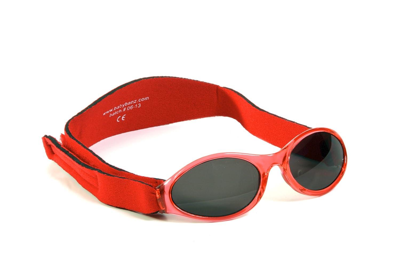 Confezione regalo-Occhiali da sole per bambini, colore: rosa Hippoa nd Babybanz-Occhiali da sole per bambini da 0-2 anni, colore: rosso Baby Banz Combo 0202/hippo-01A/R
