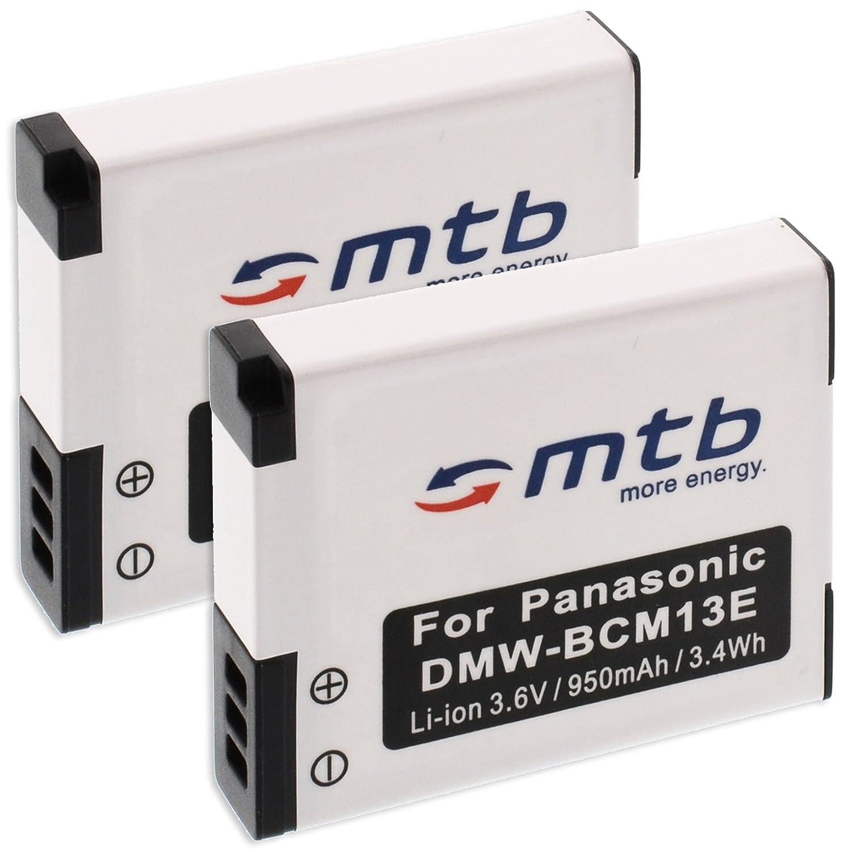2X Baterías DMW-BCM13 + Cargador para Panasonic Lumix DMC-FT5 TZ37 ...