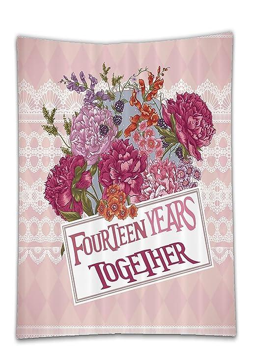 chaoran mantel rosa 14 años juntos TH aniversario regalos ...